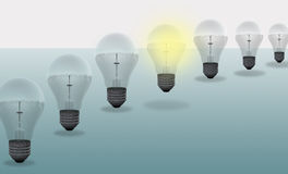 Conceptual digital light bulb design Royalty Free Stock Photos