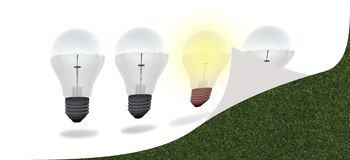 Conceptual digital light bulb design Stock Photo