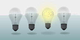 Conceptual digital light bulb design Stock Photos