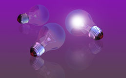 Conceptual digital light bulb Stock Photo