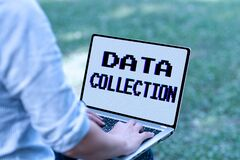 Conceptual display Data Collection. Internet Concept gathering and measuring information on targeted variables Online
