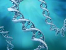 Conceptual DNA strands Stock Photo