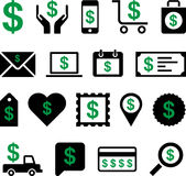 Conceptual Dollar icons Stock Image