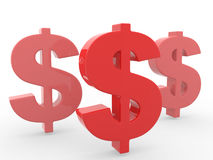 Conceptual dollar sign Stock Photo