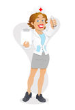 Sexy Nurse - Cartoon Character - Vector Illustration Stock Photo