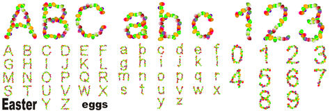 Conceptual Easter eggs font Royalty Free Stock Image