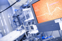 Conceptual ECG on the patient monitor Stock Photography