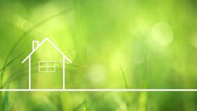 Conceptual eco home healthy living Royalty Free Stock Image