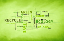 Conceptual eco green tag word background Stock Photo
