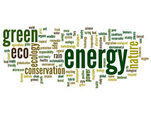 Conceptual ecology word cloud Royalty Free Stock Photos