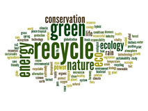Conceptual ecology word cloud Stock Images