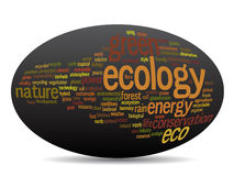 Conceptual ecology word cloud Royalty Free Stock Images