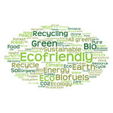 Conceptual ecology word cloud isolated Royalty Free Stock Photos