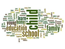 Conceptual education word cloud Royalty Free Stock Photos