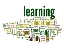 Conceptual education word cloud. Background Stock Photo