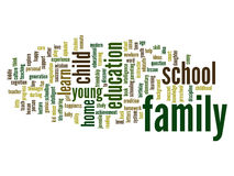 Conceptual education word cloud stock image