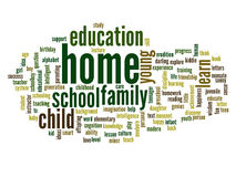 Conceptual education word cloud Royalty Free Stock Photography