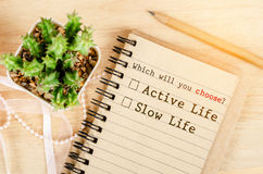 Conceptual entre a vida ativa e a vida lenta imagem de stock royalty free