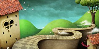 Fantastic Wonderland background Royalty Free Stock Photography