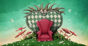 Fantastic illustration Wonderland Royalty Free Stock Photography