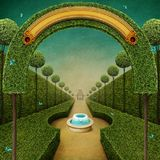 Fairy tale green background Stock Photo