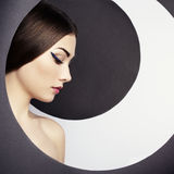 Conceptual fashion portrait of a beautiful young woman Royalty Free Stock Photo