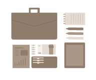 Conceptual flat illustration of a business person. Stock Photo