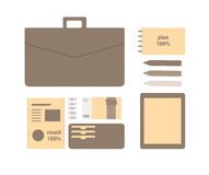 Conceptual flat illustration of a business person. Stock Image