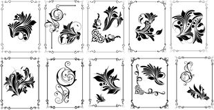 Conceptual Flourish Frame Designs Stock Images