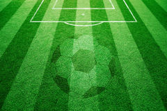 Conceptual football field playground background Stock Photography