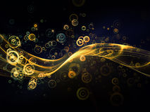 Conceptual Fractal Waves Stock Photography