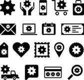 Conceptual Gear icons Royalty Free Stock Photo