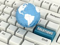 Conceptual global solutions Stock Images