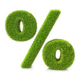 Conceptual grassed sign of percent Royalty Free Stock Images