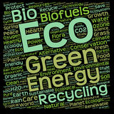 Conceptual green eco or ecology word cloud Stock Photography