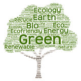 Conceptual green ecology tree word cloud Royalty Free Stock Photography