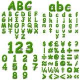 Conceptual green grass font Royalty Free Stock Photos