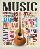 Conceptual guitar poster Stock Image