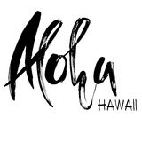 Conceptual hand drawn phrase Aloha. Lettering design for posters, t-shirts, cards, invitations, banners. Vector illustration Royalty Free Stock Photography