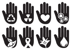 Conceptual Hand Symbols Illustration Royalty Free Stock Image