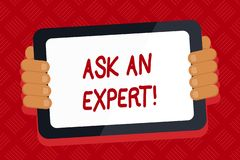 Conceptual hand writing showing Ask An Expert. Business photo text confirmation that have read understand and agree with. Conceptual hand writing showing Ask An vector illustration