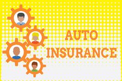 Conceptual hand writing showing Auto Insurance. Business photo showcasing Protection against financial loss in case of. Conceptual hand writing showing Auto royalty free illustration