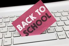 Conceptual hand writing showing Back To School. Business photo showcasing New Teachers Friends Books Uniforms Promotion
