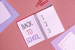 Conceptual hand writing showing Back To School. Business photo text New Teachers Friends Books Uniforms Promotion