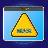 Conceptual hand writing showing Bias. Business photo showcasing inclination or prejudice for or against one. Conceptual hand writing showing Bias. Concept stock illustration