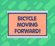 Conceptual hand writing showing Bicycle Moving Forward. Business photo showcasing To keep your balance, you must keep stock illustration