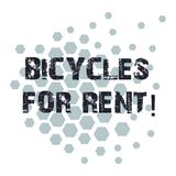 Conceptual hand writing showing Bicycles For Rent. Business photo showcasing rents bikes for short periods of time. Usually few hours Geometric Shape Hexagon royalty free illustration