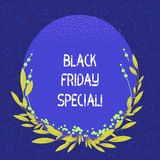 Conceptual hand writing showing Black Friday Special. Business photo showcasing The day after thanksgiving Crazy Sale Shopping vector illustration