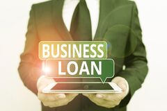 Free Conceptual Hand Writing Showing Business Loan. Business Photo Showcasing Loans Provided To Small Businesses For Various Purposes Stock Photography - 174813022