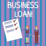 Conceptual hand writing showing Business Loan. Business photo showcasing Loans provided to small businesses for various. Conceptual hand writing showing Business vector illustration